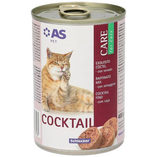 AS alimento para gatos cocktail con venado lata 400 gr