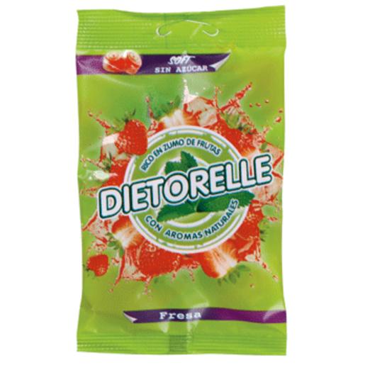 DIETORELLE goma caramelo sabor fresa bolsa 50 gr