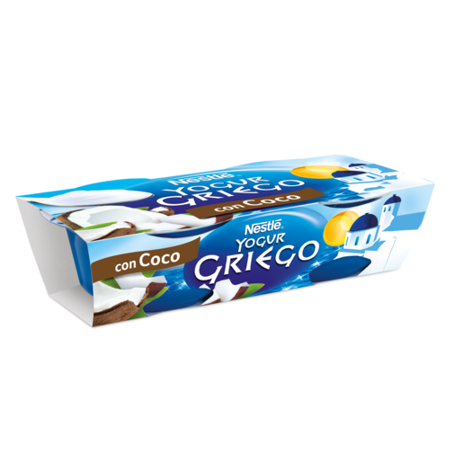 NESTLE yogur griego con coco pack 2 unidades 120 gr