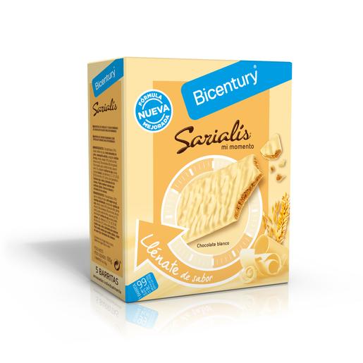 BICENTURY Sarialis barritas de cereales y chocolate blanco caja 5 uds