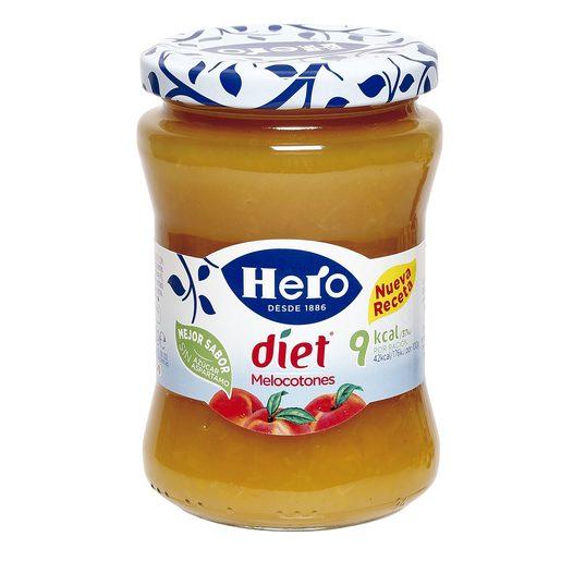 HERO Diet confitura de  melocotón frasco 280 gr