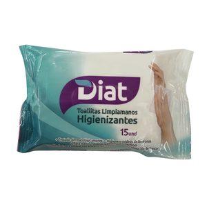 DIAT toallitas higienizantes envase 15 uds