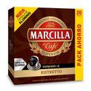 MARCILLA café ristretto 20 cápsulas caja 104 gr