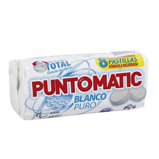 PUNTOMATIC detergente máquina blanco puro en pastillas 4 lv