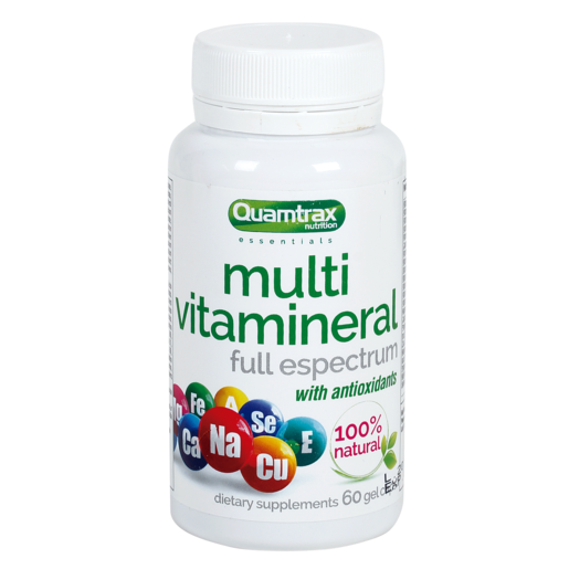 QUAMTRAX Nutrition multivitamineral with antioxidants bote 60 cápsulas