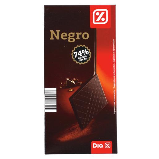 DIA chocolate negro 74% tableta 100 gr