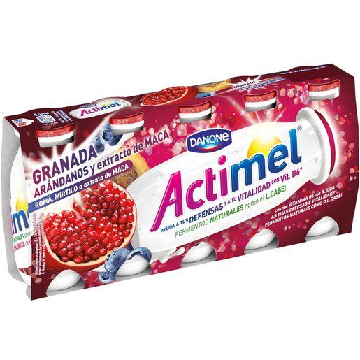 DANONE ACTIMEL yogur líquido granada, arándanos y maca pack 5 unidades 100 gr