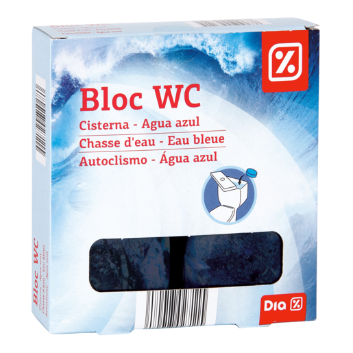 DIA block wc cisterna azul pastillas 4 udsx50 cl
