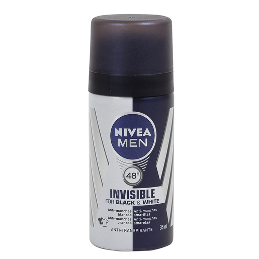 NIVEA Men desodorante invisible for black&white formato viaje spray 35 ml