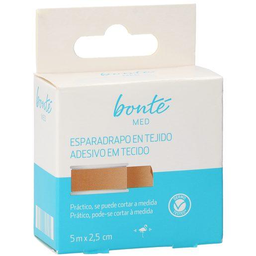 BONTE esparadrapo en tejido clásico 5m x 2,5 cm caja 1 ud