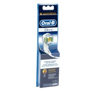 ORAL B cabezal de recambio para cepillo eléctrico 3D white blíster 2 uds