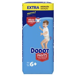 DODOT Pants pañales +16 kg talla +6 paquete 44 uds