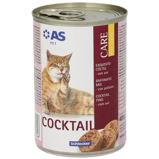 AS alimento para gatos cocktail con ave lata 400 gr