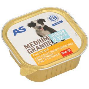 DIA paté para perros cachorros con pollo, pavo y verduras tarrina 300 gr