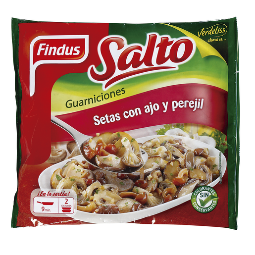 FINDUS Salto setas con ajo y perejil bolsa 350 gr