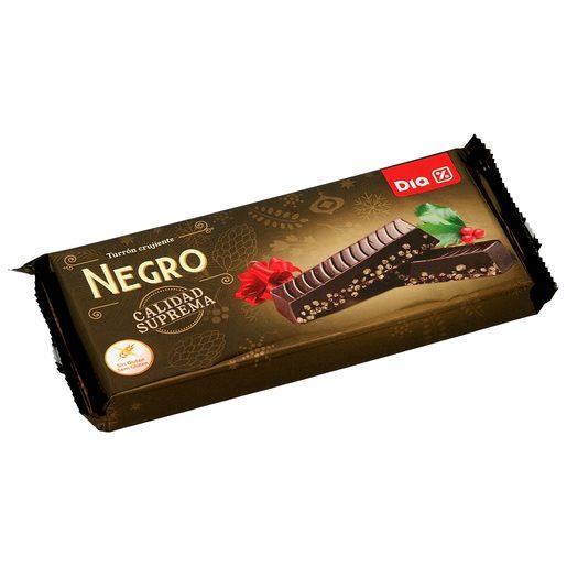 DIA turrón de chocolate negro crujiente estuche 260 gr