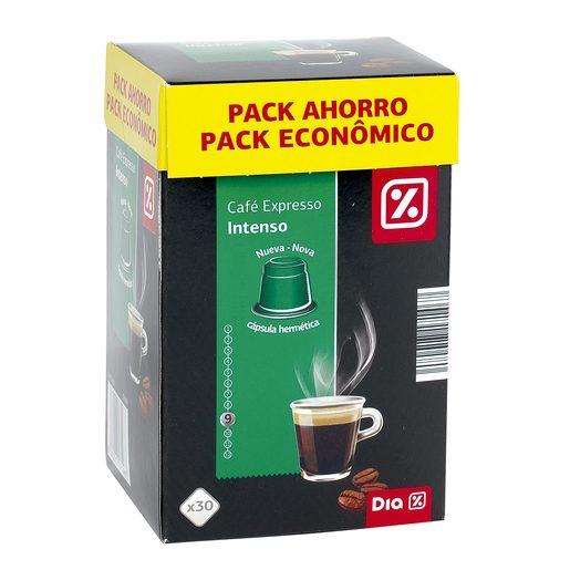 DIA café expresso intenso 30 cápsulas caja 156 gr