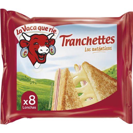 TRANCHETTES queso fundido 8 lonchas paquete 150 gr