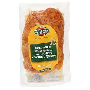 LA CARLOTEÑA redondo de pollo asado relleno de jamón y queso envase 340 gr