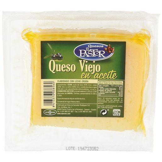 EL PASTOR queso viejo en aceite de oliva cuña 200 gr