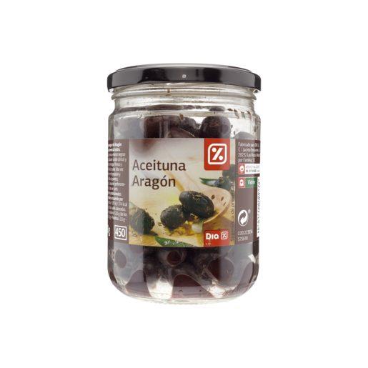 DIA aceitunas negras de Aragón frasco 250 gr