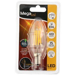 MEGALED bombilla vela filamento 40W E14 blíster 1 ud