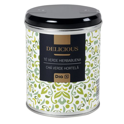 DIA DELICIOUS té verde con hierbabuena lata 100 gr