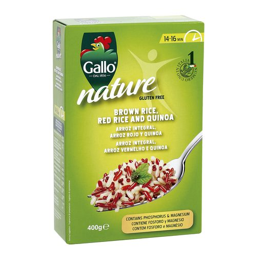 GALLO Nature mix arroces y quinoa caja 400 gr