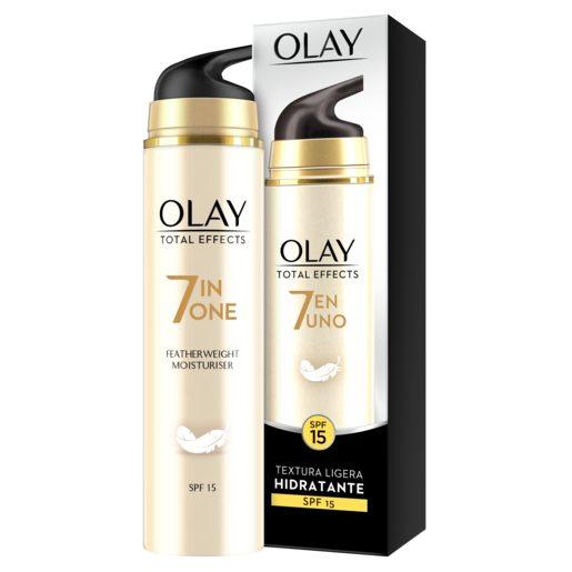 OLAY Total effects 7 en 1 crema hidratante textura ligera con spf 15 caja 50 ml