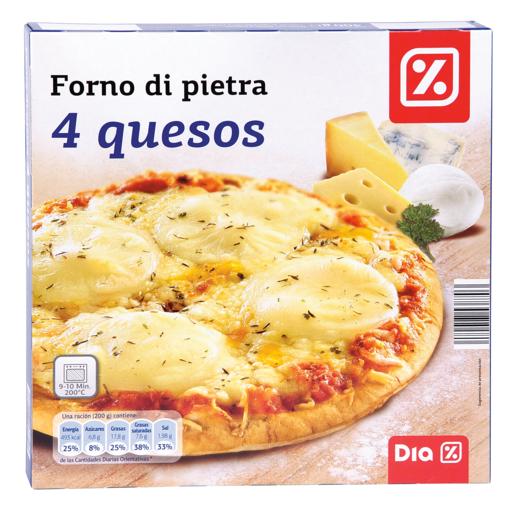 DIA pizza 4 quesos caja 400 gr