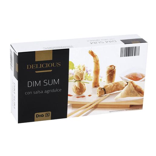 DIA DELICIOUS mix dim sum con salsa agridulce caja 230 gr