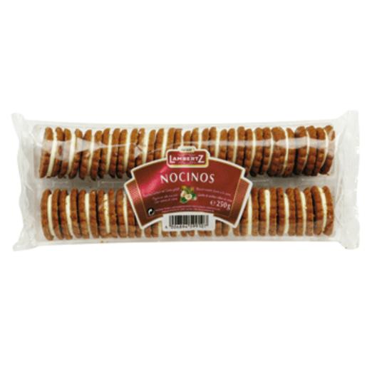 NOCINOS galleta rellena de crema de avellana paquete 250 grs