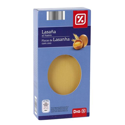 DIA placas para lasaña al huevo caja 250 gr