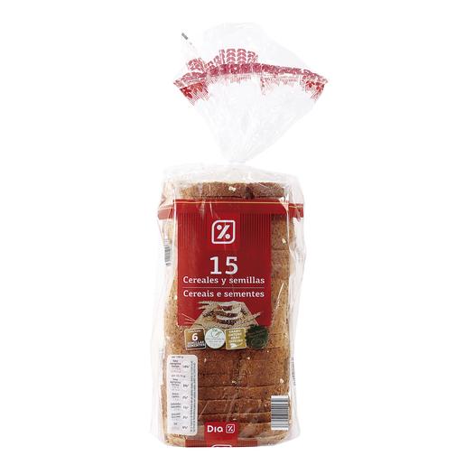 DIA pan semillas del campo 15 cereales y semillas bolsa 675 gr