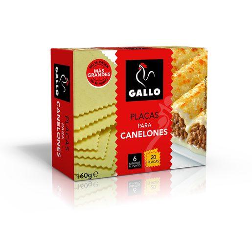 GALLO placas para canelones 20 unidades caja 125 gr