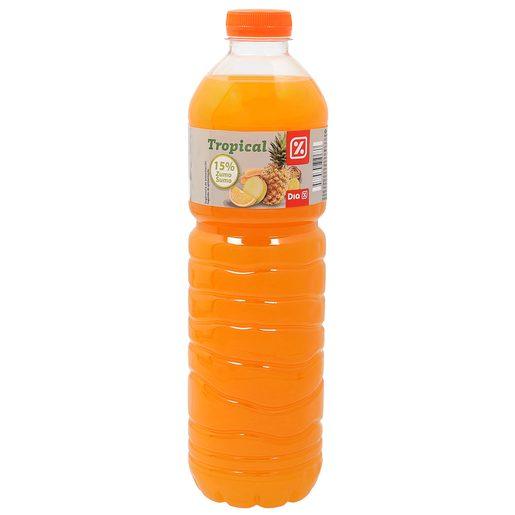 DIA refresco de frutas tropicales botella 1,5 lt