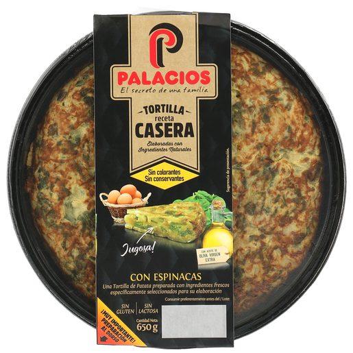 PALACIOS tortilla de patatas con espinacas envase 650 gr