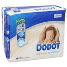DODOT Sensitive pañales recién nacido <3 kgs talla 0 paquete 24 uds