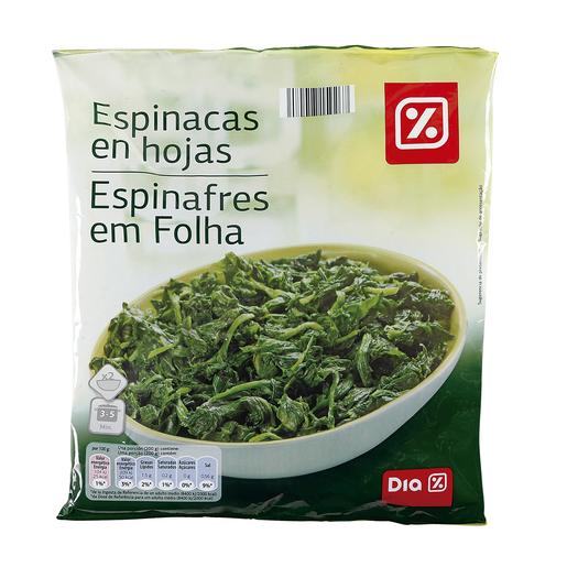 DIA espinacas en hojas bolsa 400 gr