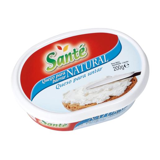 SANTE crema de queso para untar natural tarrina 200 gr