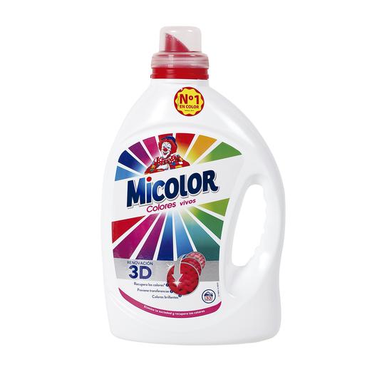 MICOLOR detergente líquido máquina colores puros gel botella 31 lv