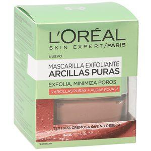 L'OREAL mascarilla exfoliante arcillas puras roja tarro 50 ml
