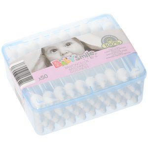 BABYSMILE bastoncillos bebé caja 50 uds