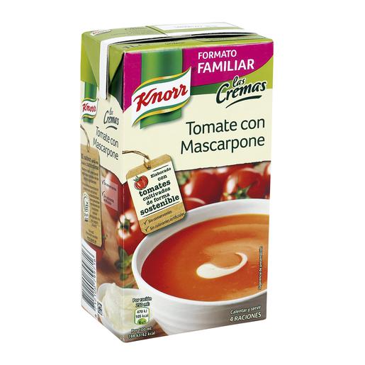 KNORR crema de tomate con mascarpone envase 1 lt