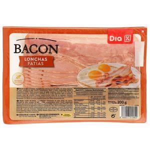 DIA bacon en lonchas sobre 200 gr