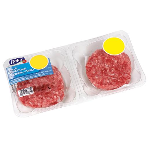 ROLER hamburguesas mixtas de vacuno y cerdo bandeja 320 gr