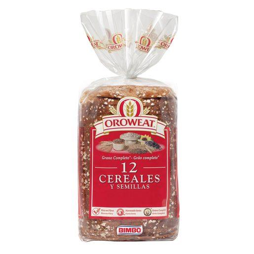 OROWEAT pan molde 12 cereales y semillas bolsa 680 gr
