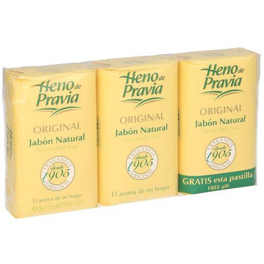 HENO DE PRAVIA jabón de manos original natural pack 2+ 1 gratis