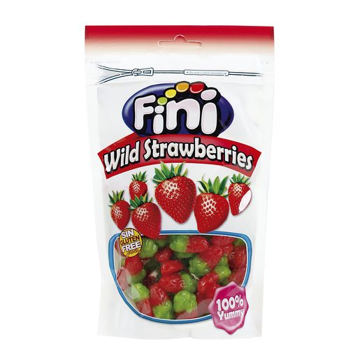 FINI golosinas mini fresas bolsa 180 gr