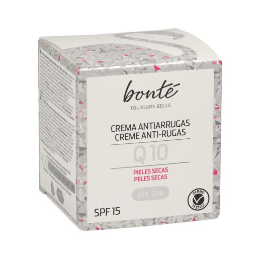 BONTE crema facial de día Q10 antiarrugas piel seca tarro 50 ml